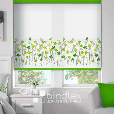 Border Flower Citrus Roller Blind