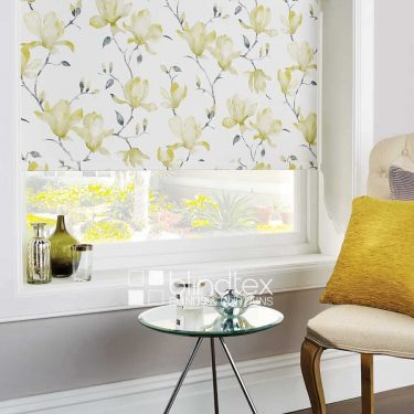 Waterflower Green Roller Blind