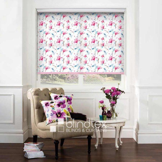 Waterflower Magnolia Roller Blind