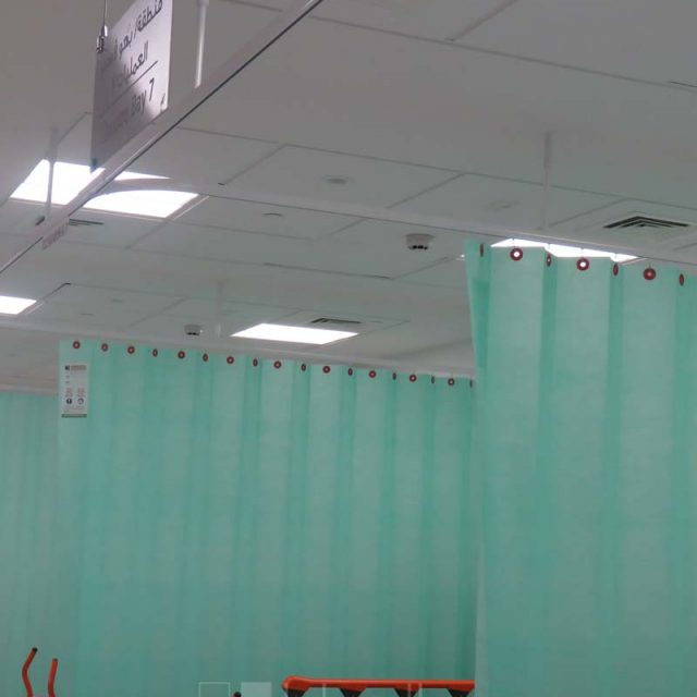 Blinds and Disposable Cubical Curtain Saudi German Hospital Ajman